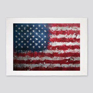 American grunge poster 5'x7'Area Rug