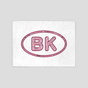 BK Pink 5'x7'Area Rug