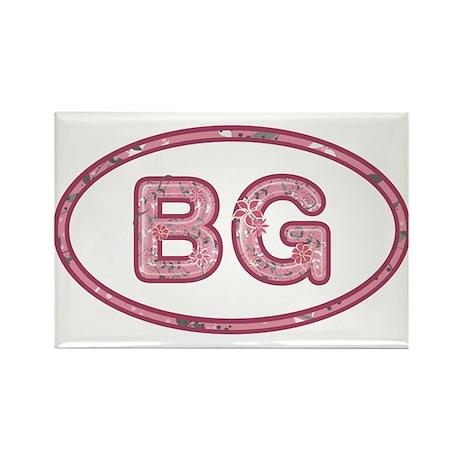 BG Pink Rectangle Magnet