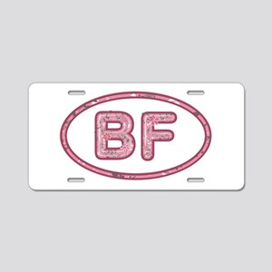 BF Pink Aluminum License Plate
