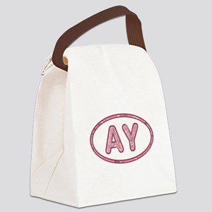 AY Pink Canvas Lunch Bag
