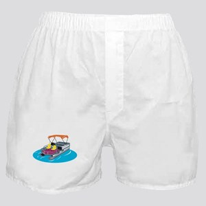 Pontoon Boat Retro Boxer Shorts