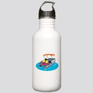 Pontoon Boat Retro Stainless Water Bottle 1.0L