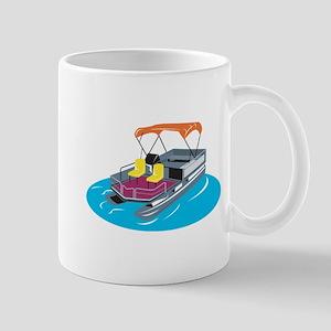 Pontoon Boat Retro Mug