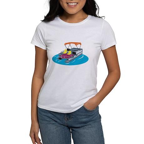 Pontoon Boat Retro Women's T-Shirt
