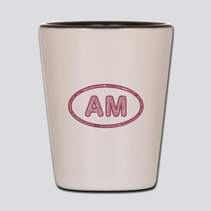 AM Pink Shot Glass