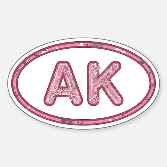 AK Pink Sticker (Oval)