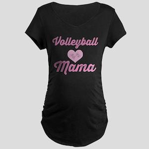 Volleyball Mama Maternity Dark T-Shirt