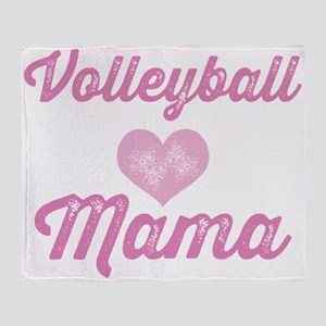 Volleyball Mama Throw Blanket