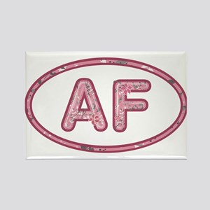 AF Pink Rectangle Magnet