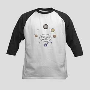 Y'all have no life Kids Baseball Jersey