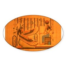 MAAT AND AUSET (ISIS) Oval Sticker