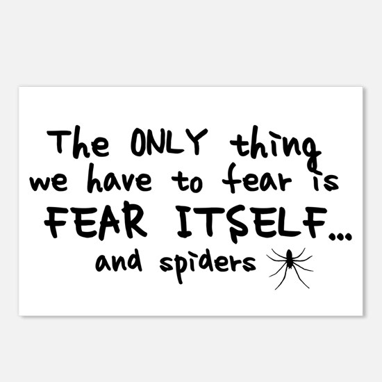 Fear itself and spiders Postcards (Package of 8)