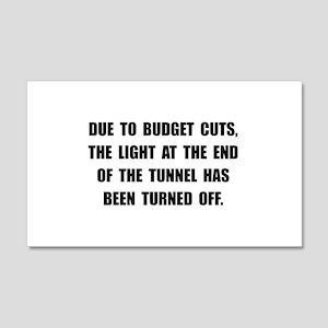 Budget Cuts 20x12 Wall Decal