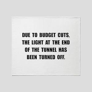 Budget Cuts Throw Blanket