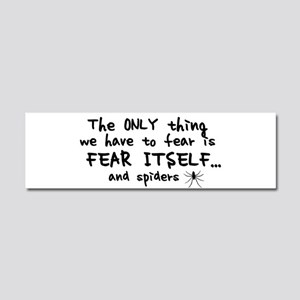 Fear itself and spiders Car Magnet 10 x 3