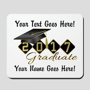 Graduate 2017 Black Gold Mousepad