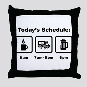 RV Enthusiast Throw Pillow
