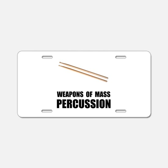 Drum Mass Percussion Aluminum License Plate