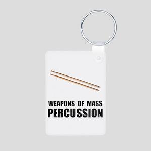 Drum Mass Percussion Aluminum Photo Keychain