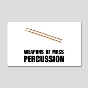 Drum Mass Percussion 20x12 Wall Decal