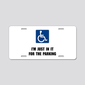 Handicap Parking Aluminum License Plate