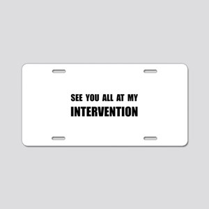Intervention Aluminum License Plate