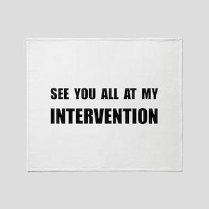 Intervention Throw Blanket