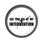 Intervention Wall Clock