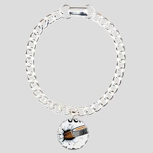 Puck Melanoma Charm Bracelet, One Charm