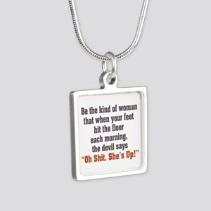 be the kind of woman Silver Square Necklace
