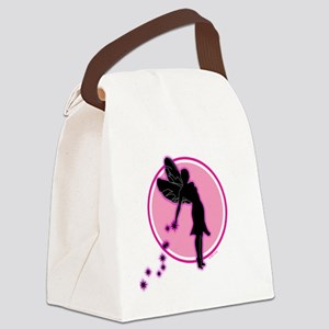 fairyonpinkcircle Canvas Lunch Bag
