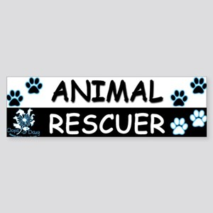 ANIMAL RESCUER (Black, Blue) Sticker (Bumper)