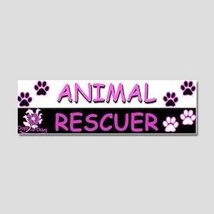 ANIMAL RESCUER (Purple) Car Magnet 10 x 3