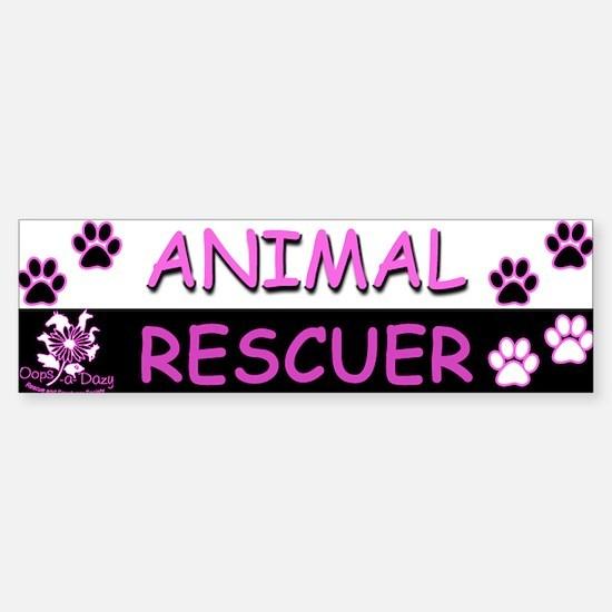 ANIMAL RESCUER (Purple) Sticker (Bumper)