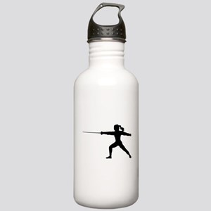 Girl Fencer Lunging Stainless Water Bottle 1.0L