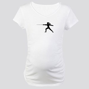 Girl Fencer Lunging Maternity T-Shirt