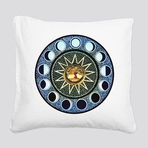 Moon Phases Square Canvas Pillow