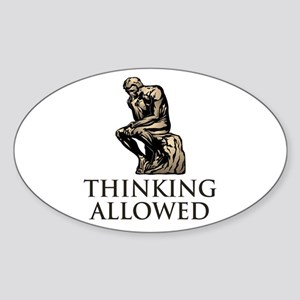 The Thinker's Oval Sticker