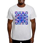 Blue Quilt Watercolor Light T-Shirt
