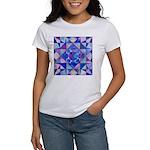 Blue Quilt Watercolor Women's T-Shirt