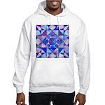 Blue Quilt Watercolor Hooded Sweatshirt