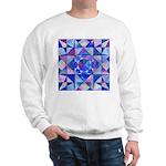 Blue Quilt Watercolor Sweatshirt