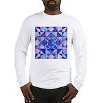 Blue Quilt Watercolor Long Sleeve T-Shirt