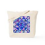 Blue Quilt Watercolor Tote Bag