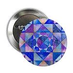 Blue Quilt Watercolor Button