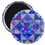 Blue Quilt Watercolor Magnet