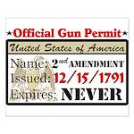 """""""Official Gun Permit"""" Poster"""