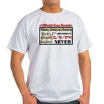 """""""Official Gun Permit"""" Light T-Shirt"""