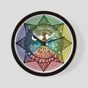 Elemental Seasons Wall Clock